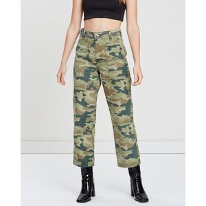 NWT FREE PEOPLE Remy Green Camo Utility Pant